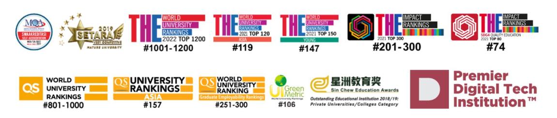 utar ranked in Times Higher Education QS Green Metrics